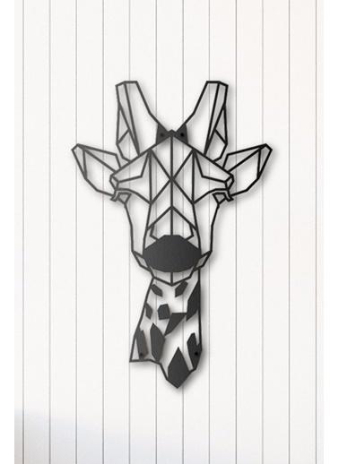 Angemiel Home Zürafa Modern Metal Duvar Tablosu Siyah